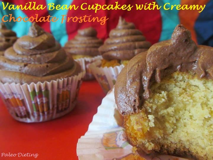 Vanilla Bean Cupcakes w Creamy Chocolate Frosting | jensrealfood